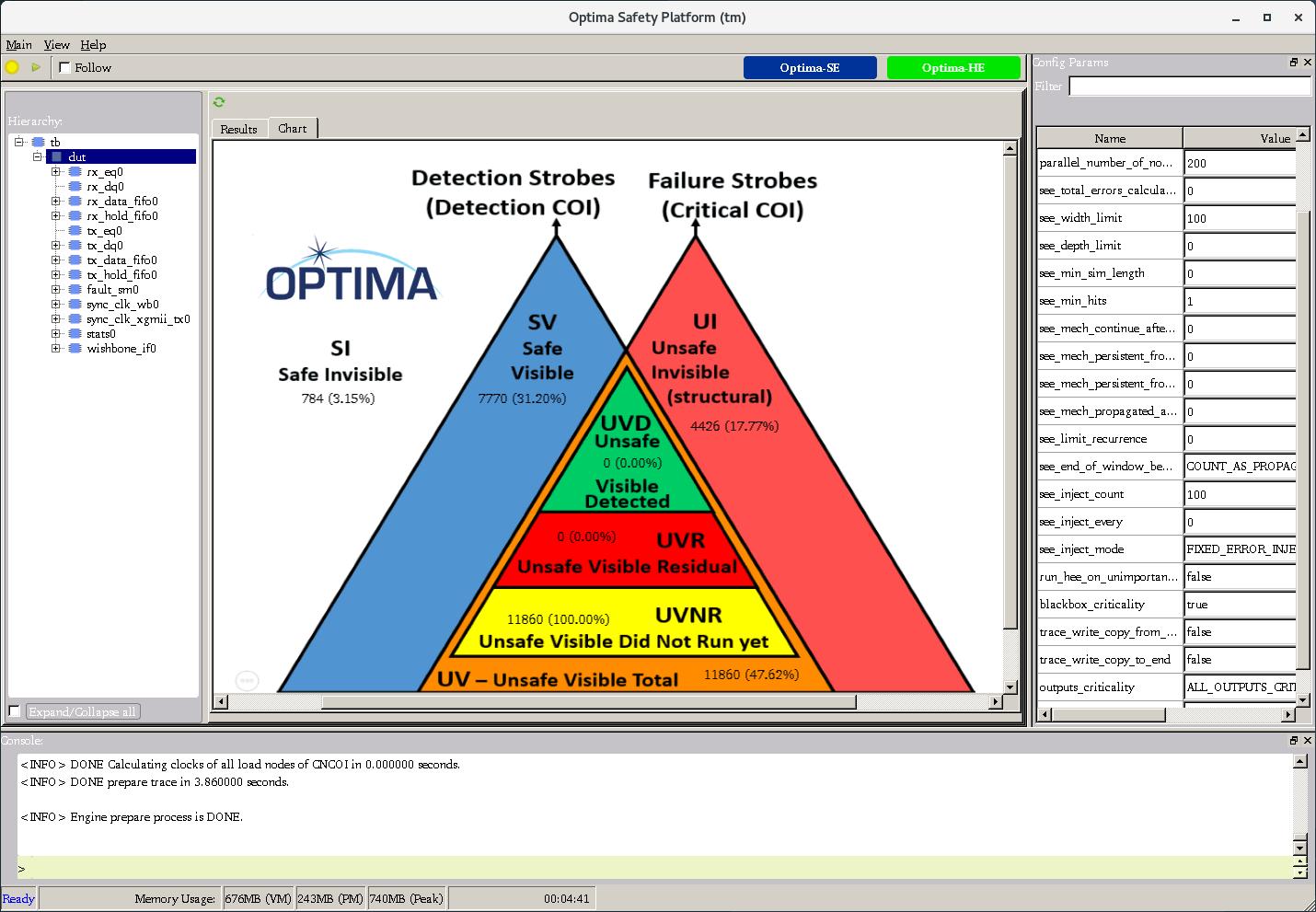 Optima-SA Output